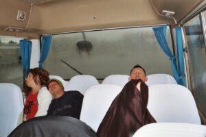 Arlene, Kevin, Barry sleeping