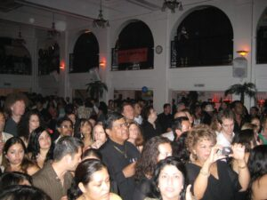 A PACKED! house for Cuban star Maraca and his band from Havana